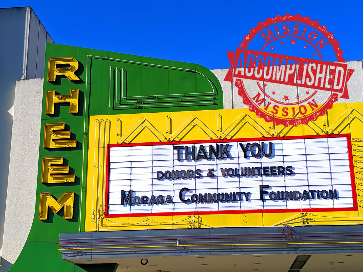 Reheem Theatre Thank You Sign